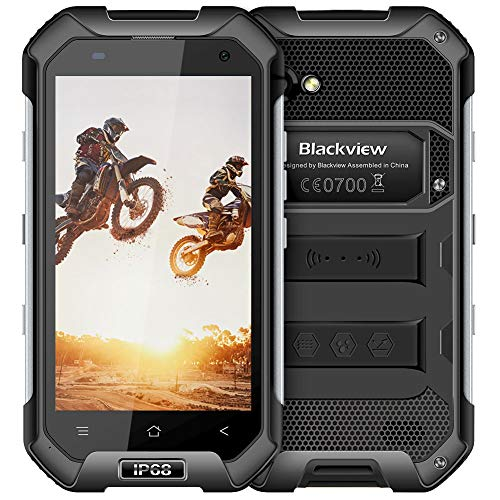Rugged Cell Phones Unlocked, Blackview BV6000S IP68 Waterproof Smartphone - 4G Android 7.0-4.7''HD 4500mAh Battery 2MP+8MP - 2GB RAM+16GB ROM Work with AT&T/T-Mobile Shockproof NFC Phone - Smartphone S60