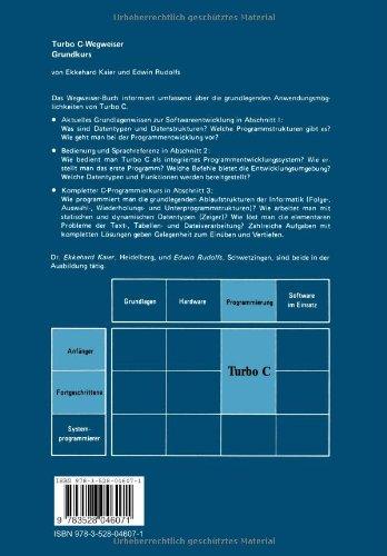 Turbo C-Wegweiser Grundkurs (German Edition): Ekkehard Kaier: 9783528046071: Amazon.com: Books