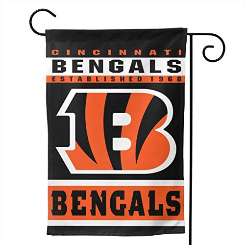 Marrytiny Design Colorful Garden Flags American Football Team Cincinnati Bengals Durable & Double-Sided 28 x 40 Inch 100% Polyester Home House Wall Flag Decor