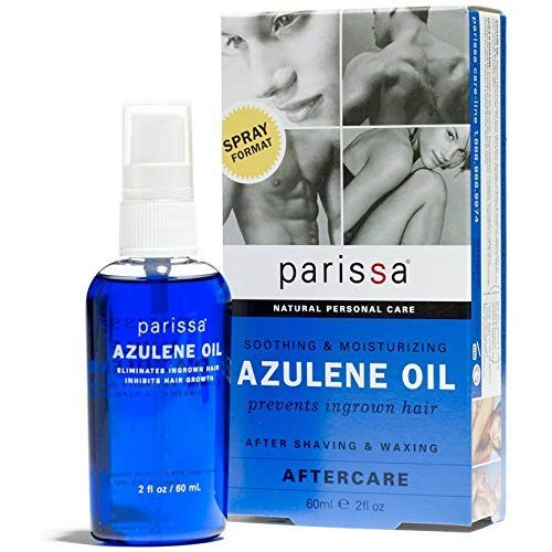 (Parissa Azulene After Waxing Oil, Aftercare Oil Prevents Ingrown Hairs Soothes Skin Chamomile Extract, 60 ml (2 oz) Easy Spray Bottle )