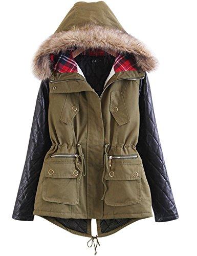 Leather Parka Coat - 6