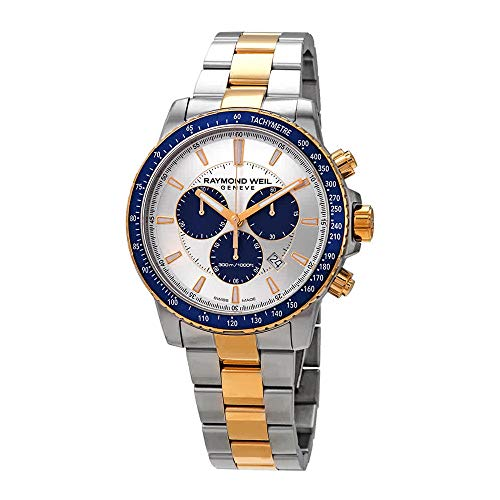 Raymond Weil Tango Silver Dial Men's Chronograph Two Tone Watch 8570-SP3-65501 ()