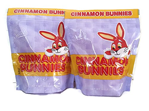 Cinnamon Bunnies Candy, 14 oz Resealable Bags (Pack of 2)