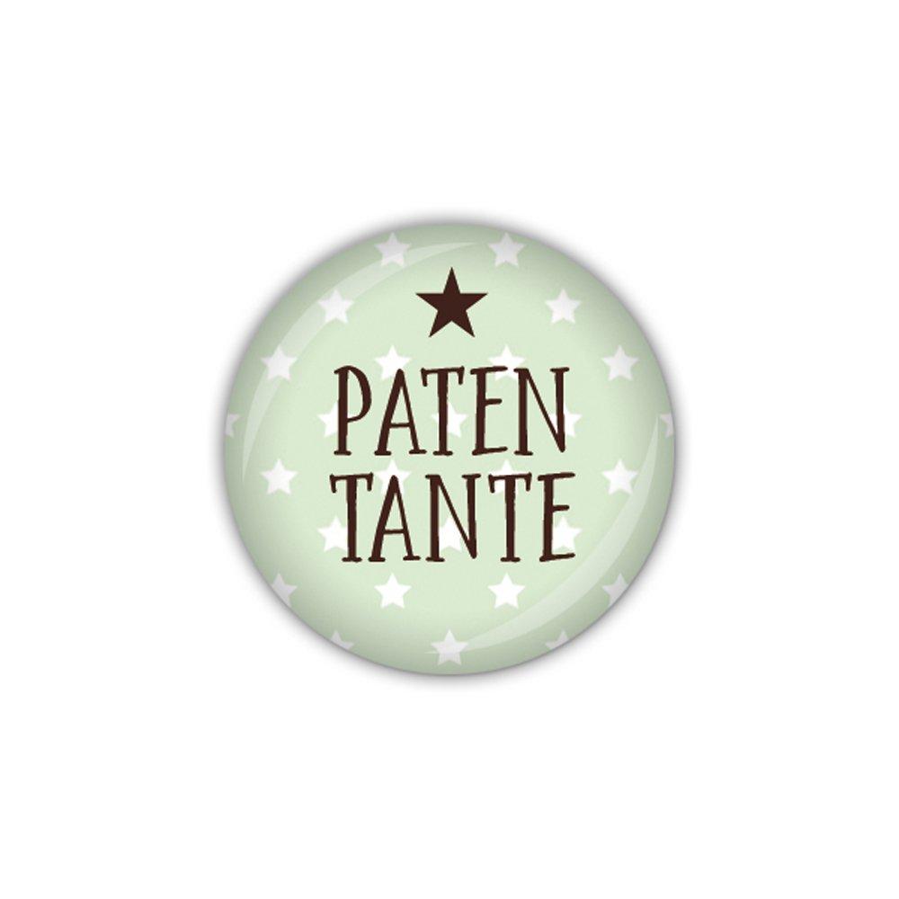 lijelove/® Button 25mm /Ø KLEINER STERN gr/ün Patentante Art. BU948