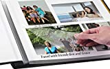Photo Album Self Adhesive Scrapbook Album - Premium Leather Cover Double-Side Page Albums Hold Vertical and Horizontal Photos for 4x6, 5x7,6x8,8x10,etc
