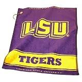 LSU Tigers Official NCAA 16 inch x 22 inch Golf Towel by Team Golf