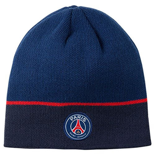 PSG – Official Paris Saint-Germain Winter Hat – Color : Blue – DiZiSports Store