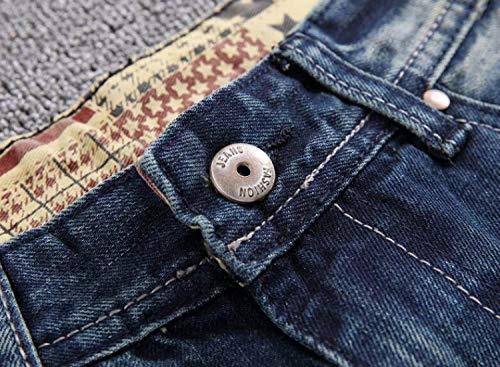 Straight Los Slim Hombres Patch Vaqueros Pantalones Azul Flacos Clásico Cher Holes Vaqueros Casual De Algodón Pantalones Chicos Leisure Ripped De Fit Jeans w4zOEq