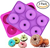 7 foot freezer - Ozera 2-Pack Donut Baking Pan, Non-Stick Donut Mold, Silicone Baking Molds for Donuts, Easy to Bake Full Size Perfect Shaped Doughnuts - Dishwasher, Oven, Microwave, Freezer Safe