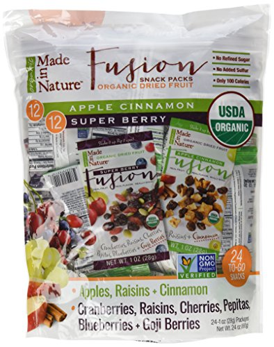 Dried Fruit Snacks (Made in Nature Organic Dried Fruit Snack Packs, 24 - 1-oz Individual)