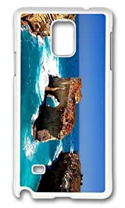 MOKSHOP Adorable Coast Island Rock Hard Case Protective Shell Cell Phone Cover For Samsung Galaxy Note 4 - PC White