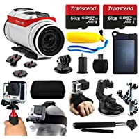 TomTom Bandit 4K HD Action Camera + 128GB Essetial Accessories Bundle includes Solar Charger + Stabilizer + Head Strap + Car Mount + Selfie Stick + Travel Case + Car Charger + More!