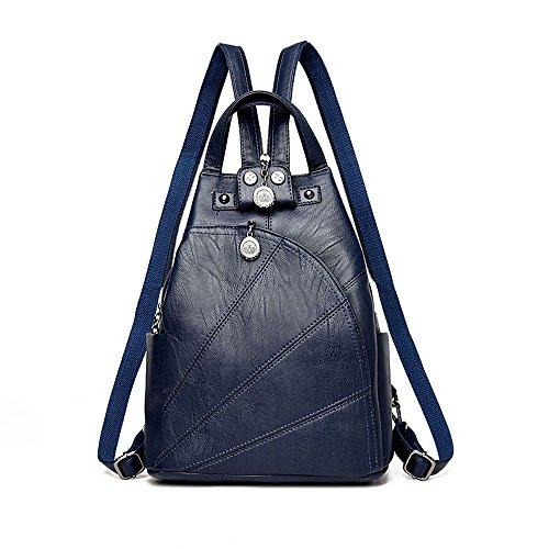 Sling Leather Crossbody Blue Artwell Small Convertible Travel Daypack Women Bag Backpack Shoulder Handbag Purse CqRa8xR