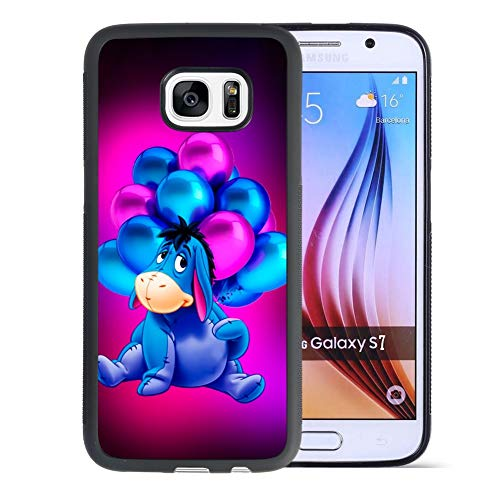 DISNEY COLLECTION Color Sidi Phone Cover for Samsung Galaxy S7 Black Shockproof TPU and Hard PC Back Design (Sidi Cover)