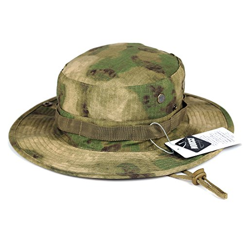 NOUCCI Boonie Hat Camouflage Bucket Hats Wide Brim Sun Fishing Bucket Hat,Foliage Green 7 1/2