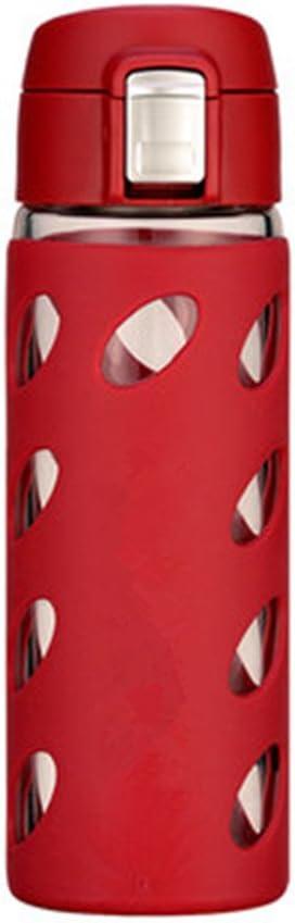 SHUI^BEI Coppa da Viaggio Tazza per Acqua Portatile per Sport All'Aperto. Strato Singolo con Filtro per Tazza da tè Trasparente 330ml