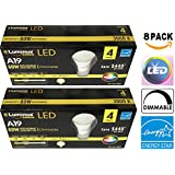 A19 (8 Pack) Luminus® Elite Dimmable LED A19 Energy Star Light Bulb, 10W (60W Incandescent Equivalent) 120 Volt, 3000K Bright White, 800 Lumens, 300 Degree Omnidirectional, E26 Medium Screw Base, UL-Listed Qualified