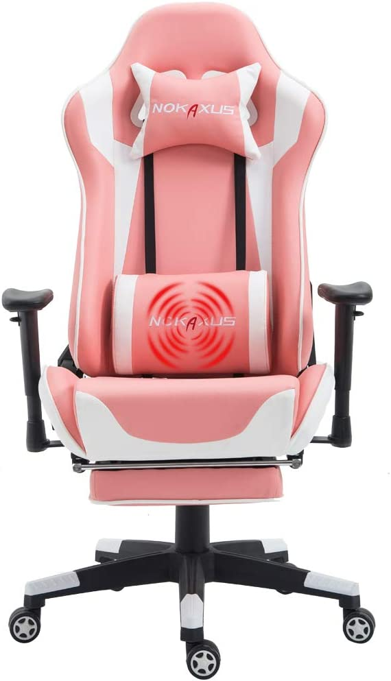 Gaming Chair with Ergonomic Seat and Footrest - Fabulous Stability