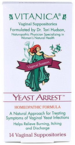 Vitanica - Yeast Arrest - Homeopathic Vaginal Suppositories - 14 Count