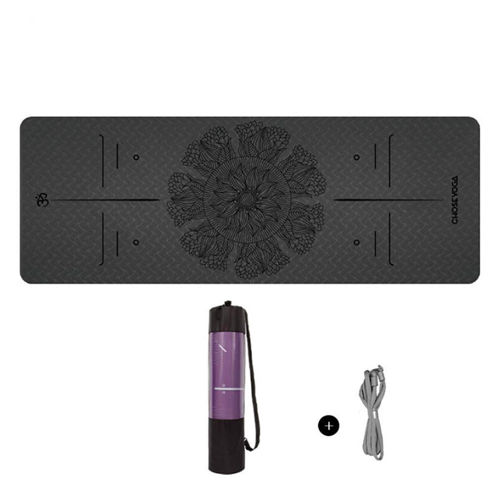 Koshsha Lotus Umweltfreundliche 6Mm Yoga-Matte Mit Dem Einzigartigen Ausrichtungs Marker-System Mit Trage Gurt Und Tragetasche