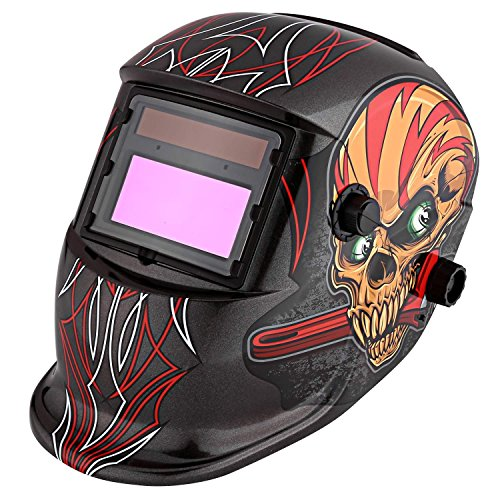 Ferty Solar Welding Mask Automatic Variable Light for Mig Tig Arc Welder with Work Skull Pattern (Work Skull) by Ferty
