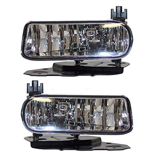 - Pair Set Fog Lights Lamps Clear Lens Replacement for Cadillac Escalade/ESV & EXT Pickup Truck GM2592138 GM2593138