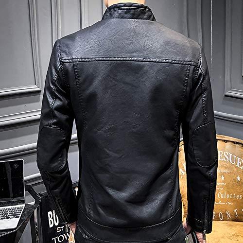 kemilove Mens Motorcycle Jacket Leisure Fashion Material Jacket Autumn Winter Coat at Amazon Mens Clothing store: