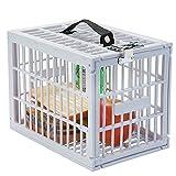 Fridge Locker, Safe Box with Metal Lock for Refrigerator Kids Safety, White Plastic, By Escest