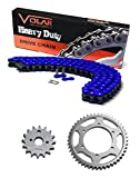 95-03 Kawasaki KEF300 Lakota 300 Sport Chain and Sprocket Kit Heavy Duty Blue