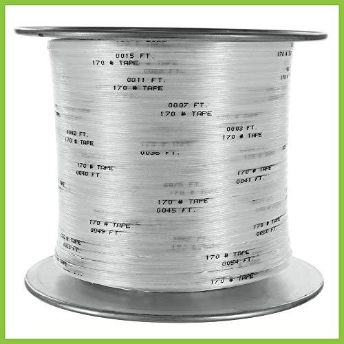 Rohrmaßband – Elektrodraht und Kabel Arbeitsband – 1,9 cm Breite und 91,4 m Länge – 130 kg Zugfestigkeit