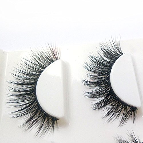 4acebff5614 Trcoveric 3D Fake Eyelashes Makeup Hand-made Dramatic Thick Crisscross  Deluxe False Lashes Black Nature Fluffy Long Soft Reusable 3 Pair Pack -  T0729-Tric ...