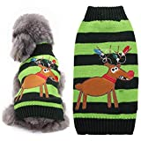 NACOCO Dog Sweater Cat Reindeer Xmas Christmas Pet Sweaters in Winter Clothes (XL)