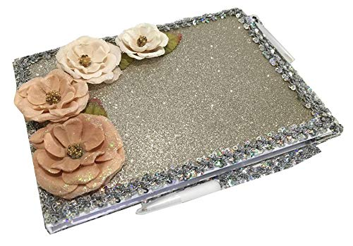 Flower Guest Book For A Sweet 16, Quinceanera, Wedding Bridal Signature Memory Book All Occasion