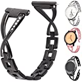 22mm Watch Band,Lwsengme Quick Release Stainless Steel Bracelet Wrist Watch Band Strap for Men's Women's Watch(NOT include Watch Fitness) (22mm-Black-02)
