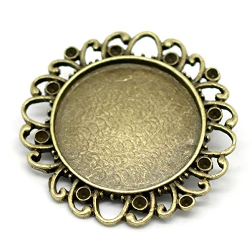 HOUSWEETY Bronze Cabochon Setting Brooches