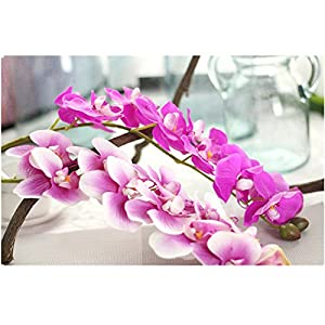 Outtop 28.34 Inch Orchid Artificial Flowers Bouquets Fake Flower for Home and Wedding Decoration 34