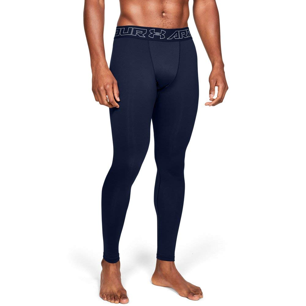 Under Armour Men's ColdGear Armour Compression Leggings, Academy (408)/Steel, Small by Under Armour
