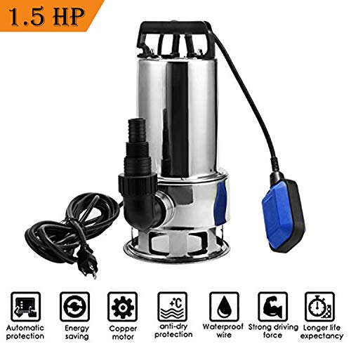 1.6HP Stainless Shallow Well Pump Water Pumps Home Garden Lawn Sprinkling Booster...
