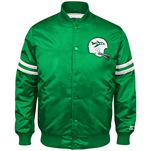 23506454a06a5 STARTER NFL Men's Retro Satin Full Snap Jacket | Product US Amazon
