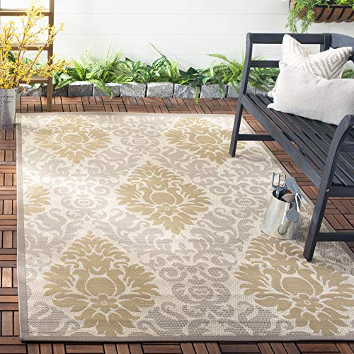 Safavieh Courtyard Collection CY7133-79A21 Beige and Dark Beige Indoor/ Outdoor Area Rug (2'7