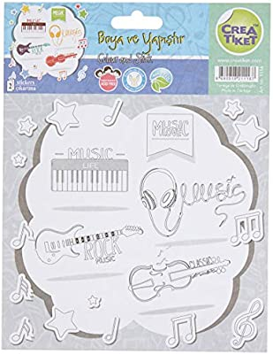 Creatiket 1116 Boyama Etiketi Muzik Aletleri Gitarist Amazon Com Tr