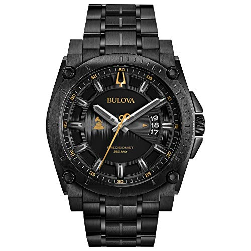 Bulova Men's Grammy Watch Analog-Quartz Stainless-Steel Strap, Black, 24 (Model: 98B295) ()