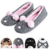 Women's Plush Winter Warm Animal Soft Cute Home Slippers Dog Mouse 5-6 M US