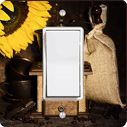 Rikki Knight 8925 Single Rocker Still Life with Antique Coffee Grinder & Sunflower Design Light Switch Plate by Rikki Knight