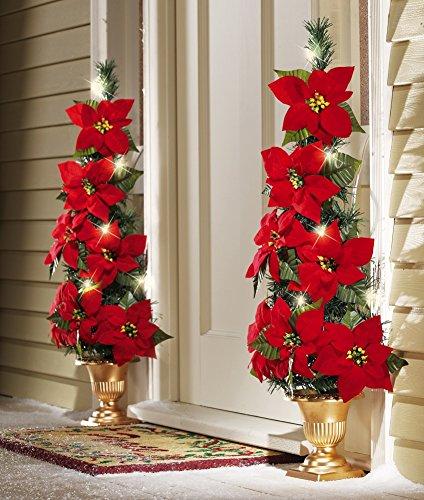 Lighted-Flat-Back-Poinsettia-Tree-Decoration
