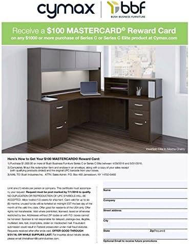 Bush Business Furniture Series C 3-Piece L-Shape Computer Desk