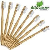 #5: Natural Bamboo Toothbrush [8-Pack] Soft BPA Free Nylon Bristles & Individually Numbered Manual Toothbrushes by MitButy