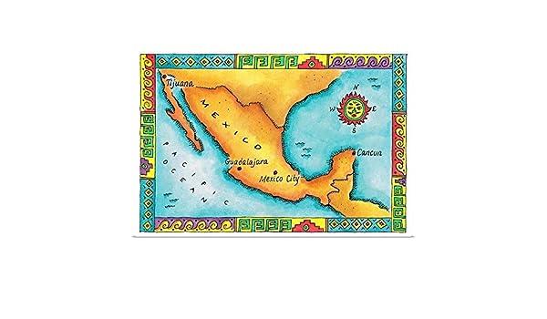 Amazon.com: GREATBIGCANVAS Poster Print Entitled Map of ...