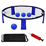 YourPartner Volleyball Spike Game for Beach, Lawn, Outdoor, Yard Playing, Blue