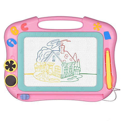 Travel Pad - Magnetic Drawing Board Erasable for Kids - Colorful Magna Doodle Drawing Board Toys - Gifts for Toddlers Kids Writing Sketching Pad -Travel Size-